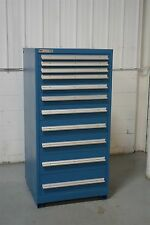 USED VIDMAR 11 DRAWER CABINET 61 INCH TALL INDUSTRIAL TOOL STORAGE #544 NICE