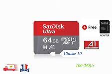 SanDisk 64 Go Ultra Micro SD SDXC UHS-I 100MB/S Classe 10 Carte Mémoire
