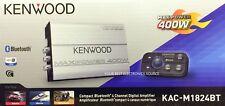 NEW KENWOOD KAC-M1824BT 400W Compact Bluetooth 4-Channel, Class D Marine/ATV Amp