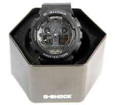 New Casio G-Shock GA100-1A Ana-Digi Speed Indicator Black Dial Men's Watch