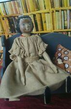 Hitty doll after original,  wooden doll and scene