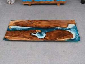 Luxury Epoxy Resin Live Edge Dining & Coffee Handcrafted Table Top  Custom Made