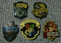 Harry Potter House Patches 5 pin set. -new