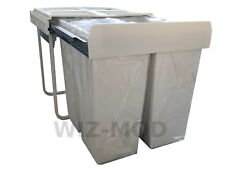 1403 Pull Out Kitchen Waste Recycle Soft Close Dust Bin 1x34 + 2x17 Litres
