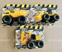 (3X) Mighty Tuff Crew Construction Vehicles: DUMP TRUCK EXCAVATOR & FRONT LOADER