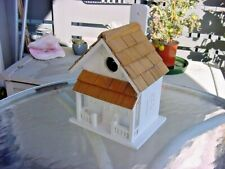 Home Bazaar Birdhouse - Victorian Cottage, White with Wood Shingles