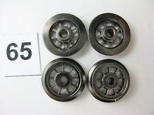 Fleischmann Dampflokräder, Ersatzteil o. Ladegut, Spur H0, Ø 10 mm, 4 Stück (65)