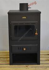 Wood Burning Stove 4+8 kW Back Boiler Log Burner Woodburning Prity Water Jacket