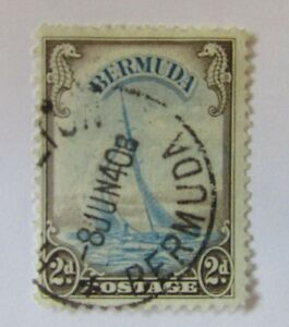 1940 Bermuda SC #109 CDS YACHT LUCIE Used stamp