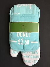Kate Spade 3 Piece Order's Up Kitchen Set of Towel Oven Mitt and Pot Holder NEW