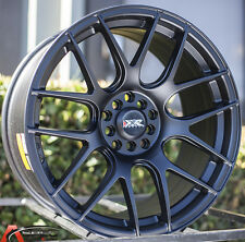 XXR 530 18X8.75 Rims 5x100/114.3MM +20 Black Wheels Fits 350z G35 240sx Rx8 Rx7