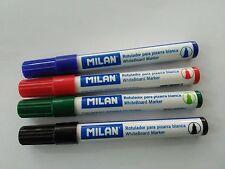 4 Rotuladores Milan para Pizarra Blanca, marcador, whiteboard marker, rotulador
