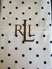 LAUREN Ralph Lauren King pillowcases BARRYMORE Navy/Cream Polka-dot Italy