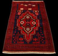 Genuine, Original Pure Wool Rug Rustic Handmad Carpet CM 156x96