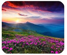 MOUSE MAT 104 Nature Purple Flowers Meadow Mountain Scenic Large Mousepad Mouse