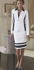 size 12 Hailee Skirt Suit black/white career wear by Midnight Velvet new
