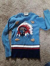 Vintage children's clothing/1950'S Child's/ Kids  Sweater/Arrow Heads/ Indians