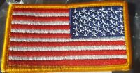 US ARMY Abzeichen Patch Original Reversed Flag Neu ohne Klett !
