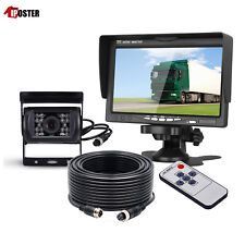 "12-24V Car Reversing Camera Kit 7"" Sunshade Monitor + 4pin CCD IR Backup Camera"