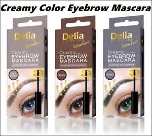 Best Product Delia EYEBROW Color Cream MASCARA Beige Blonde, Brown Graphite 4 ml