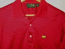 Masters Amen Corner Red Pima Cotton Embroidered Augusta Golf Shirt-Lnwot- M