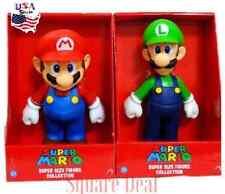 "2 Large 9"" in SUPER MARIO BRO & 10"" in LUIGI Game Action Figure US Seller"