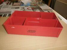 rare cette ancien Storage box de rangement rouge pour pièces LEGO (lot3)