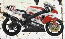 Yamaha YZF R7 OW02 1999 Aged Vintage Photo Print A4 Retro poster