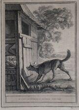 """Eau-forte de TARDIEU d'après OUDRY """"Le Loup, la Chèvre et le Chevreau"""""""