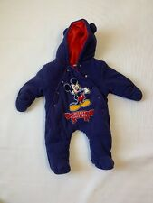 Disney Baby 3-6 Months Mickey Mouse Warm Winter Fleece Bunting Snow Suit Coat