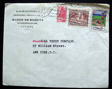 COLOMBIA COVER CANCELLED WITH VIGNETTE ANTI-TUBERCULOSIS FROM CUCUTA TO NY USA