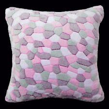 Fa40a Pink Purple Stone/Giraffe Print Fleece Cushion/Pillow Cover Custom Size