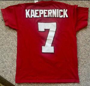 Colin Kaepernick San Francisco 49ers Majestic Jersey T-Shirt Men's Medium