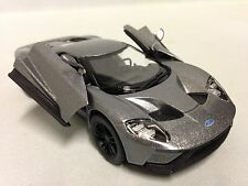 """2017 Ford GT, 5"""" Diecast Metal 1:38 Scale ,Pull Back Action,Toy Boy Girl, Silver"""