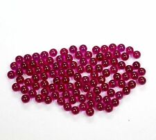 WHOLESALE LOT 50 PCS ROUND BALLS 2X2 MM AAA SPARKLING PINK SYNTHETIC RUBY