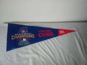 "CHICAGO CUBS 12"" x 30"" WinCraft 2016 MLB WORLD SERIES CHAMPIONS - FELT PENNANT"