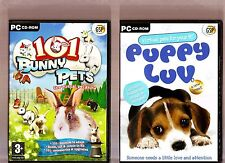 101 BUNNY PETS & PUPPY LUV. 2 GREAT VIRTUAL PETS GAMES FOR AGES 3+ ON THE PC!!