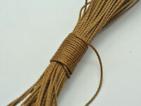 50 Meters Coffee Waxed Polyester Twisted Cord String Thread Line 1mm