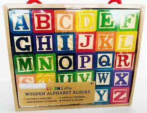 26-Count Learn & Play Wooden Alphabet Blocks Set (Ankyo Toys, 2020) *NEW SEALED*