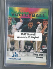 1997 Hawaii Rainbow Wahine women's college volleyball set w/ Dave Shoji