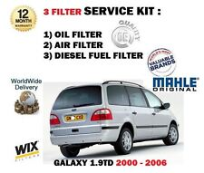 FOR FORD GALAXY 1.9 TD 10/2000-4/2006 SERVICE KIT OIL AIR FUEL FILTER ( 3 ) KIT