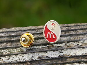 McDonald's Si Yin Yang Red Japan China Gold Tone Metal Enamel Pin Pinback Lidejo