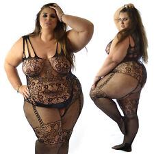 Quality Plus+ UK 14-28 Bodystocking Lingerie Nighties Catsuit Underwear Bodysuit