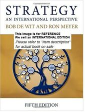Strategy: An International Perspective by Bob De Wit, Ron(Int' Ed Paperback)5ED