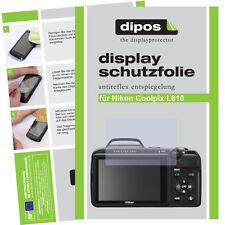 2x Nikon Coolpix L810 Schutzfolie matt Displayschutzfolie Antireflex Passgenau
