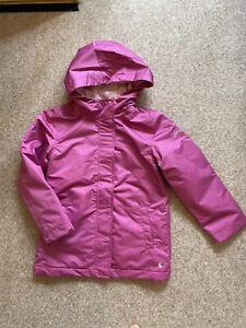 BNWT Joules Girls Padded Pink Waterproof Rain Coat Size Age 9-10years