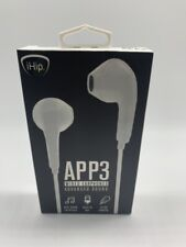 iHip Wireless Bluetooth App 3 Earbuds with In Line Microphone New