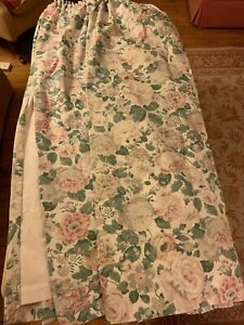 """Vintage Pair Dorma 'English Rose' Croscill Lined Curtains. Width 64"""" Drop 53"""""""