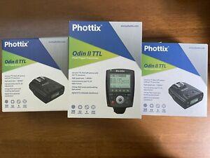 Phottix Odin II TTL Flash Trigger Receiver X 2 and Transmitter for Nikon