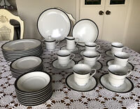 INTERNATIONAL FINE CHINA-JAPAN-REGINA 6097-DINNERWARE SET FOR 8 - 43 Pieces
